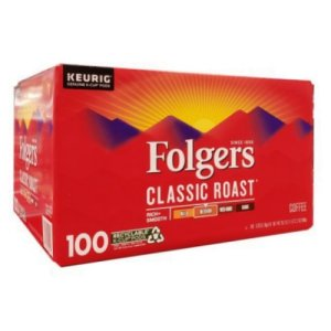 Folgers Classic Medium Roast K-Cups 100 Ct