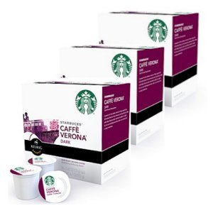 Starbucks Caffe Verona Dark, 48 K-Cups at ZeeCoffeeShoppe.Com