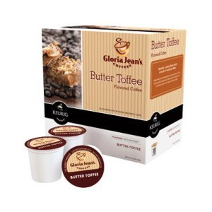 Gloria Jean's Butter Toffee Coffee 18 K Cup Medium Roast Keurig