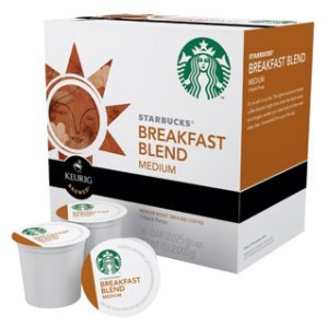 Starbucks Breakfast Blend Medium Roast, 16 K Cups Keurig