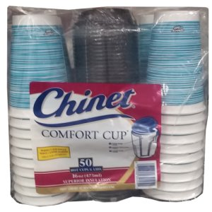 Chinet Comfort Cup with Lids 16 oz 50 Count