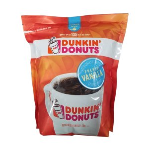 Dunkin Donuts French Vanilla Ground Coffee 2.5 lb