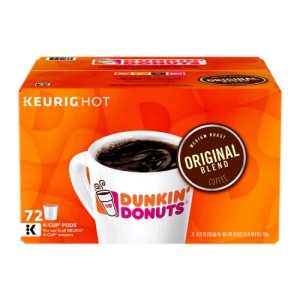 Dunkin Donuts Original Blend K Cups 72 Ct