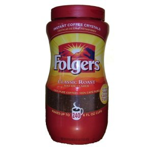 Folgers Classic Roast Instant Coffee Crystals 16 0z