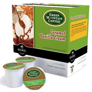 Green Mountain Caramel Vanilla Cream Light Roast, 18 K Cups Keurig