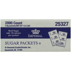 Imperial Pure Cane Sugar Packets 2,000 Count