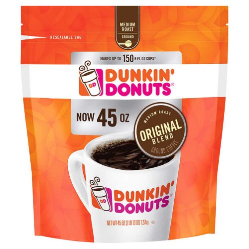 Dunkin Donuts Original Blend Ground Coffee 45 oz - Click Image to Close