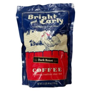 Bright and Early Dark Roast Ground Coffee 2.5 Lbs