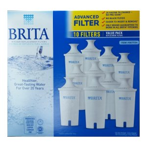 Brita Pitcher Advanced Replacement Filters 10 Pack