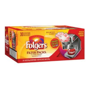 Folgers Filter Packs Classic Roast 30 ea .9 oz Packs