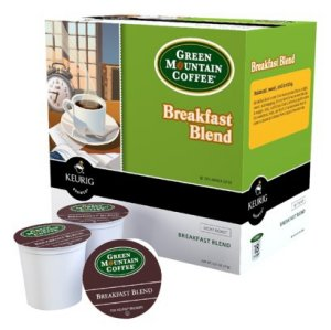 Green Mountain Breakfast Blend Light Roast, 18 K Cups Keurig