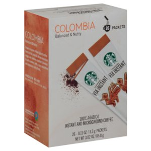 Starbucks VIA Instant Coffee Colombia 26 Single Serve Packets
