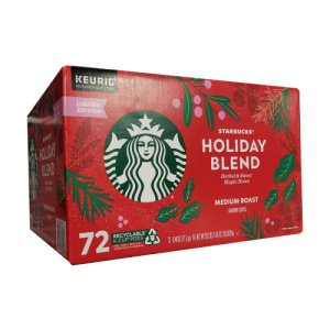 Starbucks Holiday Blend Medium Roast K-Cup 72 Ct